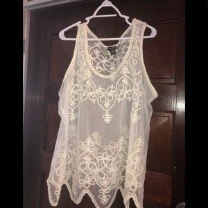 Lace Cover up blouse